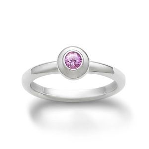 James Avery Remembrance Ring with Pink Sapphire
